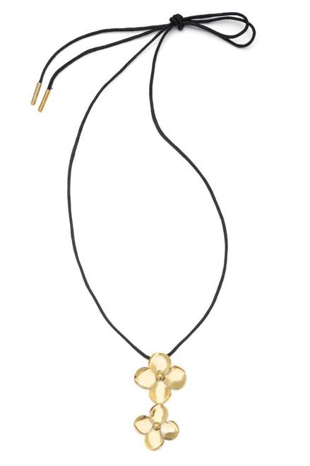 Buy Josie Natori Brass Flower Necklace from