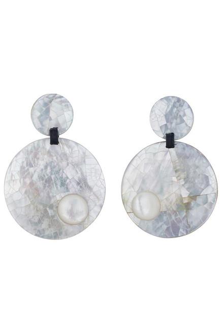 Buy Josie Natori Mother of Pearl Round Earrings from