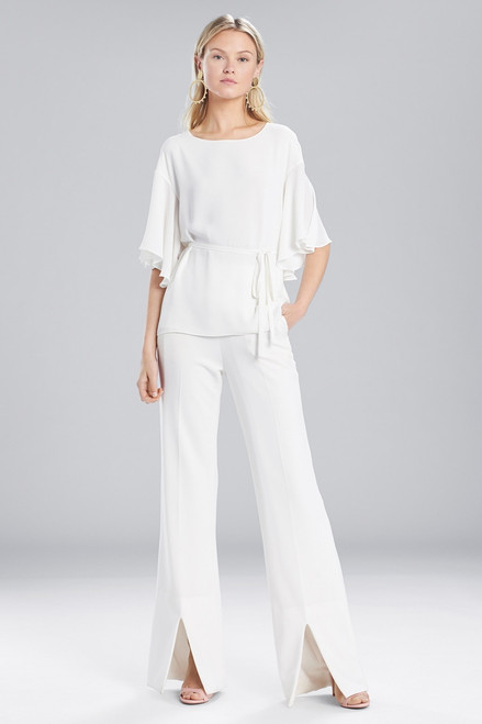 Buy Josie Natori Solid Silky Soft Flutter Sleeve Top from
