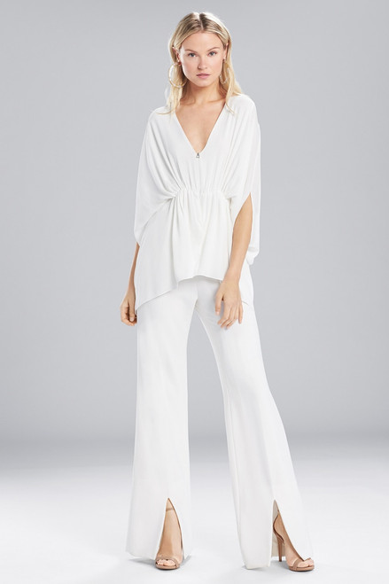 Josie Natori Solid Silky Soft Caftan Top at The Natori Company