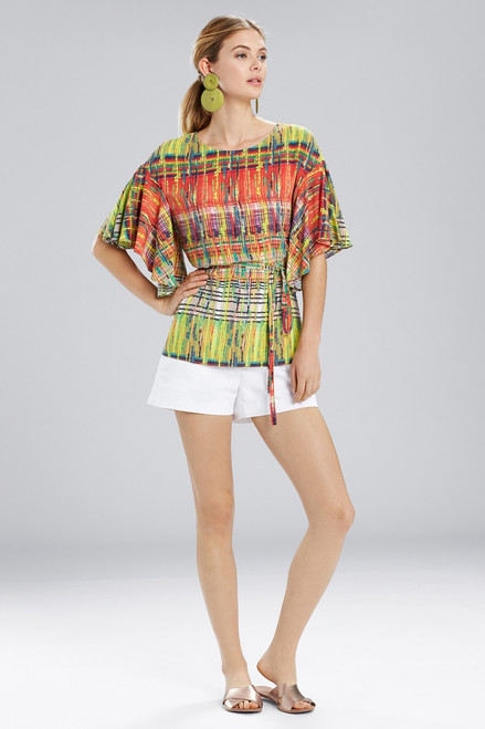 Buy Natori Jeepney and Map Flutter Sleeve Top from