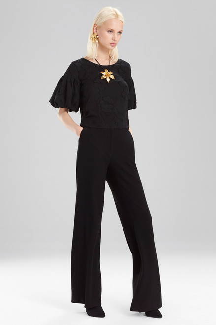 Buy Josie Natori Floral Burnout Balloon Sleeve T-Shirt Top from