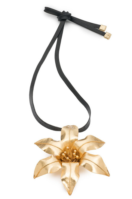 Brass Floral Necklace