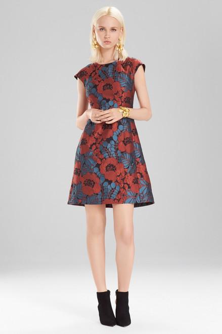 Buy Josie Natori Novelty Jacquard Cap Sleeve Dress from