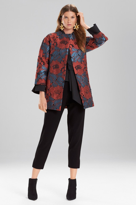Buy Josie Natori Novelty Jacquard Seamed Topper With Cutwork Embroidery from