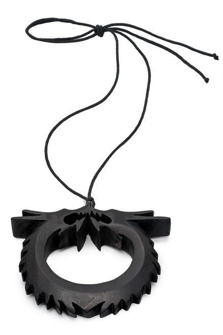 Buy Josie Natori Acacia Wood Double Dragon Necklace from