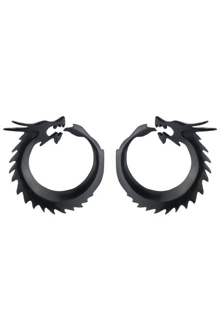 Buy Josie Natori Horn Dragon Earrings from