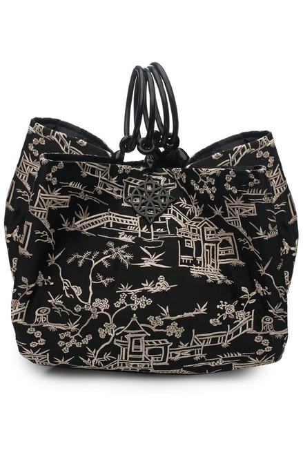 Pagoda Embroidery Large Bag
