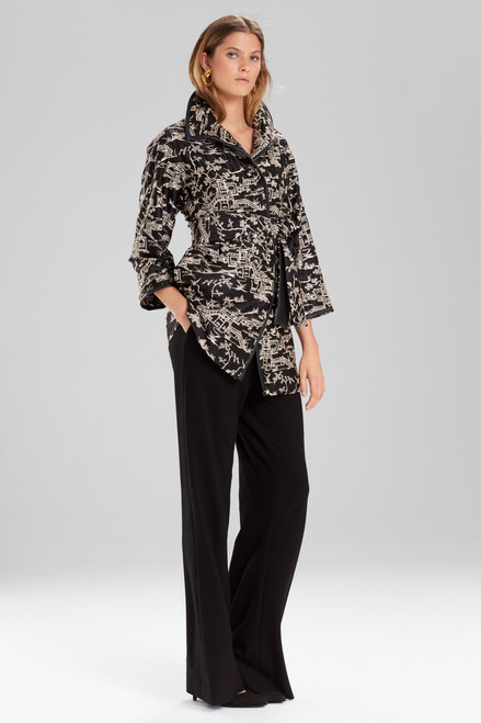 Buy Josie Natori Silk Pagoda Embroidered Jacket from