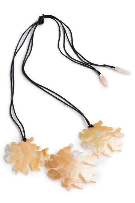 Buy Josie Natori Mother Of Pearl Coral Triple Necklace from