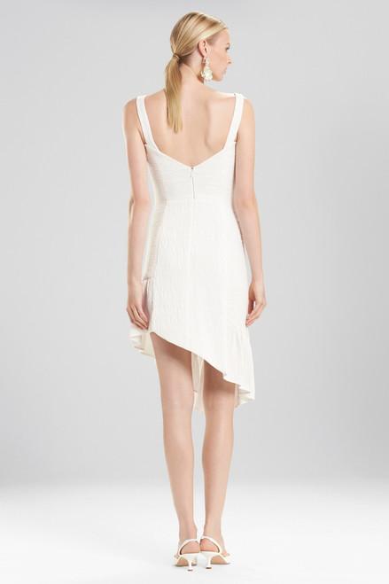 Josie Natori Plisse Asymmetrical Ruffle Dress at The Natori Company