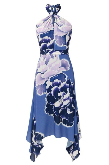 Josie Natori Peony Halter Dress at The Natori Company