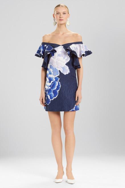 Buy Josie Natori Peony Jacquard Cold Shoulder Dress from