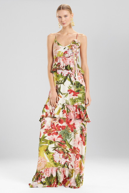 Buy Josie Natori Paradise Floral Tiered Maxi Dress from