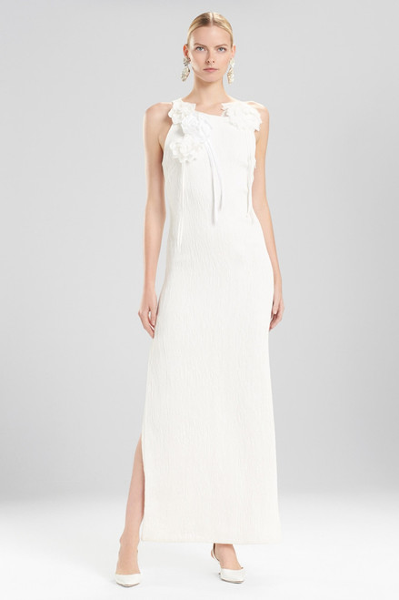 Buy Josie Natori Plisse Gown With Corsage from