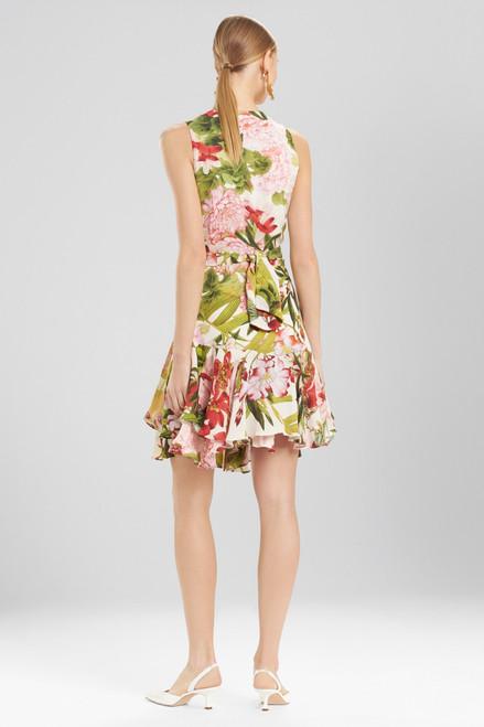 Josie Natori Paradise Floral Dress With Corsage at The Natori Company