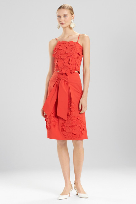 Buy Josie Natori Cotton Poplin Crop Top With Embroidery from