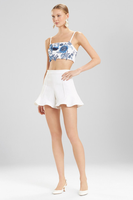 Buy Josie Natori Denim Ruffle Hem Shorts from
