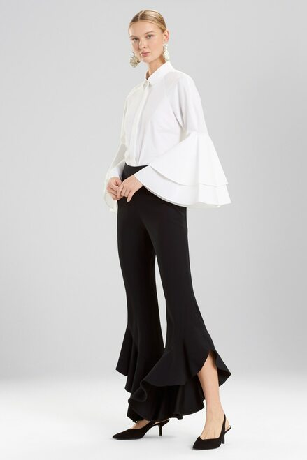 Buy Josie Natori Core Crepe Ruffle Pants from