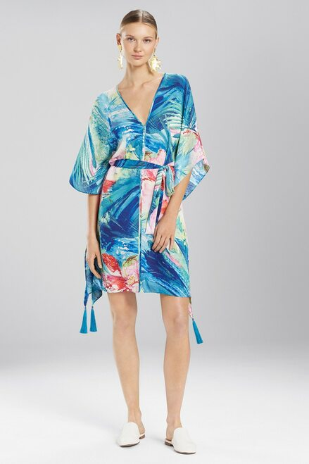 Paradise Palms Belted Caftan