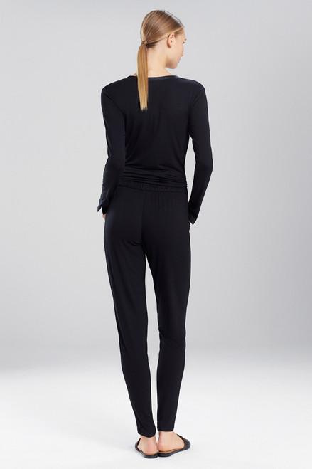 Josie Natori Fuji Pants With Silk Trim at The Natori Company