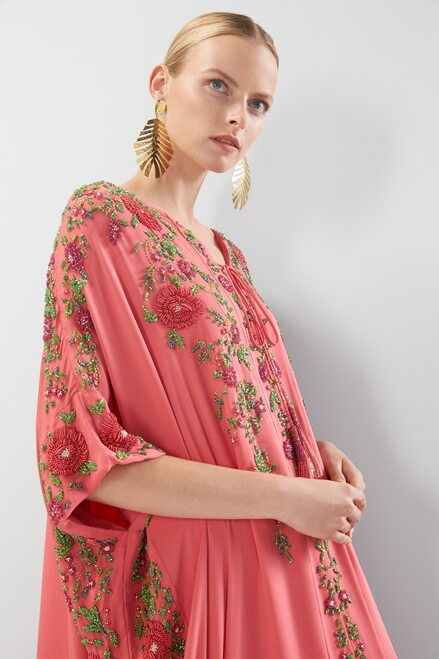 Josie Natori Couture Rosa Caftan at The Natori Company