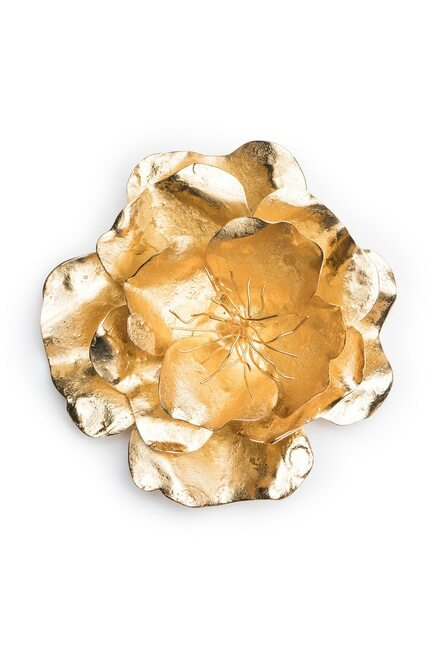Buy Josie Natori Gold Plated Brass Medium Peony Brooch  from