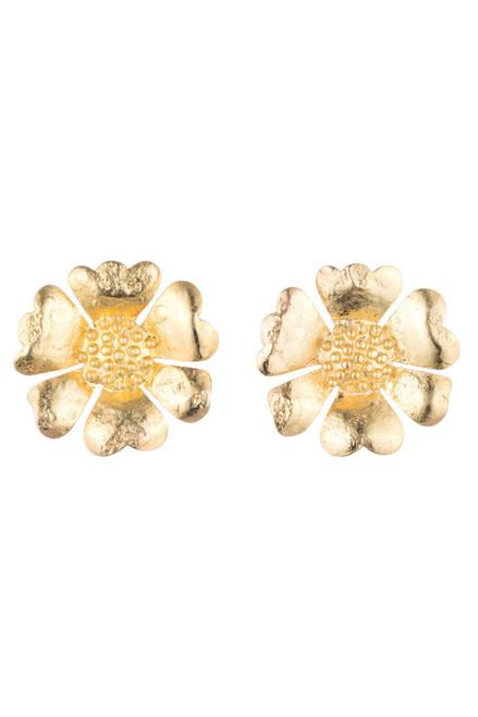 Buy Josie Natori Gold Plated Brass Peony Earrings  from