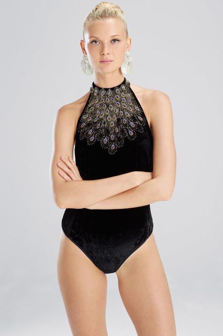Josie Natori Velvet Bodysuit at The Natori Company