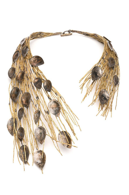 Buy Josie Natori Gold Plated Brass Peacock Necklace from