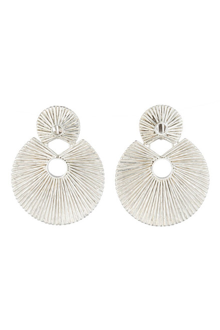 Buy Josie Natori Silver Plated Brass Double Disc Earrings from
