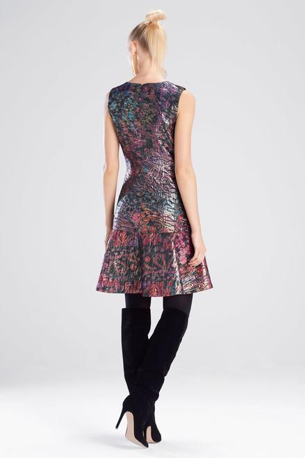 Josie Natori Bohemia Garden Jacquard Flare Dress at The Natori Company