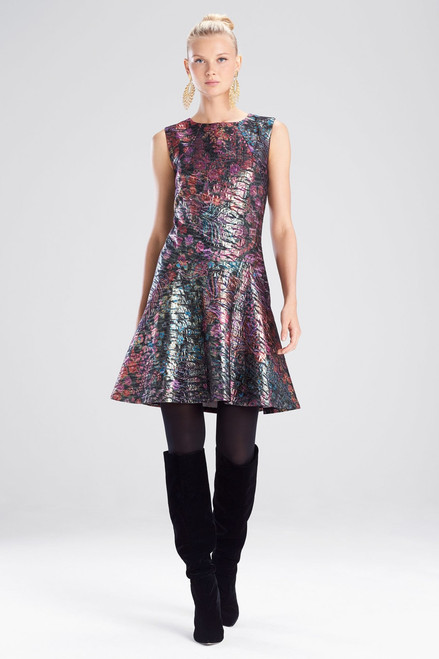 Buy Josie Natori Bohemia Garden Jacquard Flare Dress from