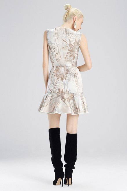 Josie Natori Winter Tide Jacquard Dress at The Natori Company