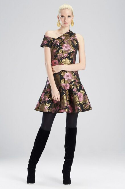 Buy Josie Natori Deco Jacquard Dress from