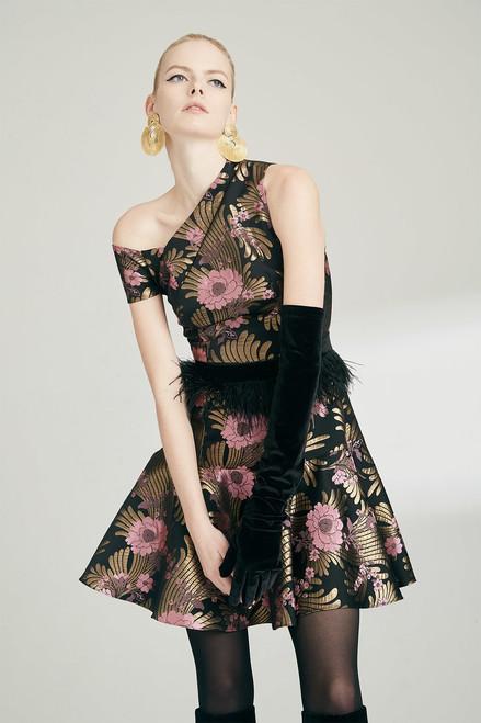 Josie Natori Deco Jacquard Dress at The Natori Company