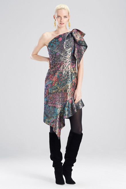 Buy Josie Natori Bohemia Garden Jacquard One Shoulder Dress from