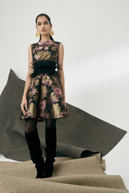 Josie Natori Deco Jacquard Fit and Flare Dress at The Natori Company