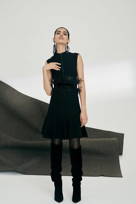 Josie Natori Knit Crepe Zip-Up Top at The Natori Company