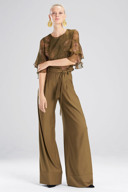 Buy Josie Natori Primrose Silk Chiffon Tiered Sleeve Top from