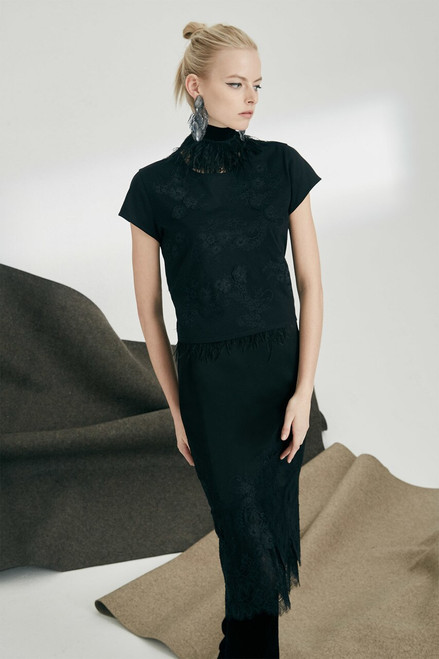 Josie Natori Viscose Satin Skirt at The Natori Company