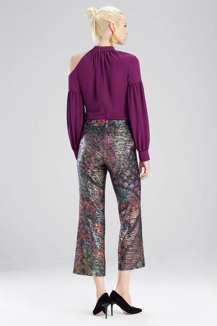 Josie Natori Bohemia Garden Jacquard Pants at The Natori Company