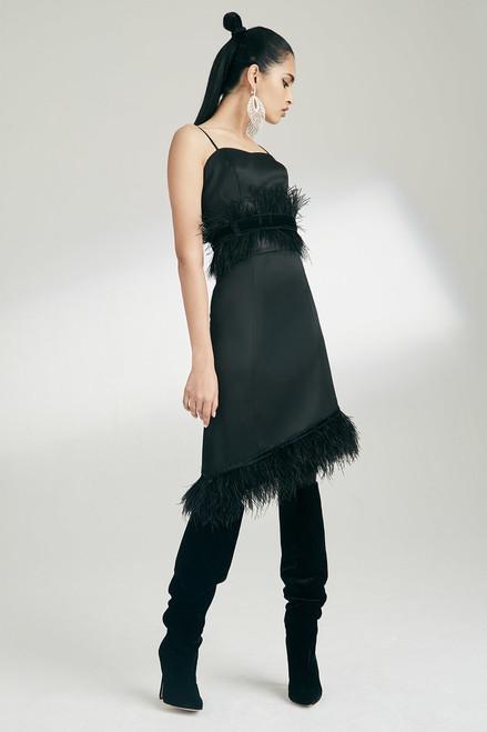 Josie Natori Tuxedo Satin Skirt at The Natori Company