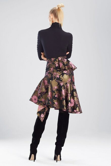 Josie Natori Deco Jacquard Skirt at The Natori Company