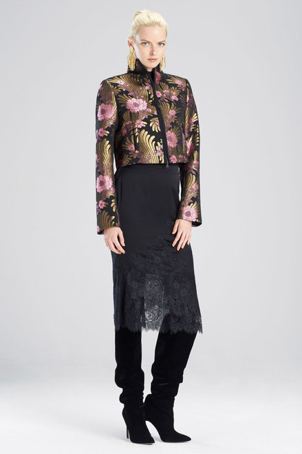 Buy Josie Natori Deco Jacquard Cropped Jacket from