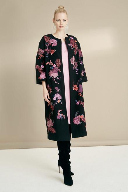 Josie Natori Felt Wool Embroidered Jacket at The Natori Company