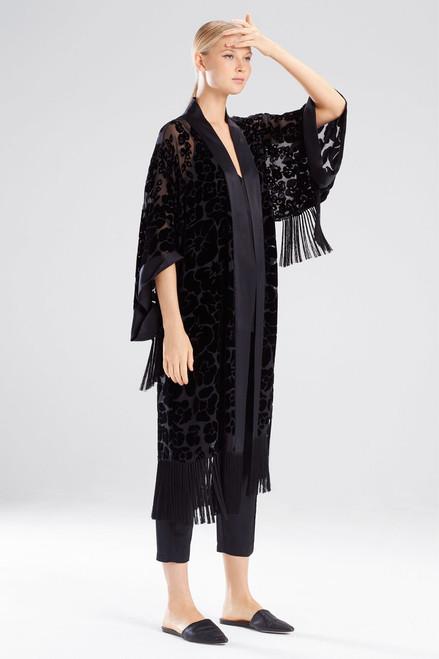 Buy Josie Natori Oriental Poppy Burnout Robe from