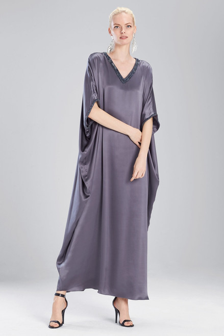 Josie Natori Couture Trim Beaded Caftan at The Natori Company