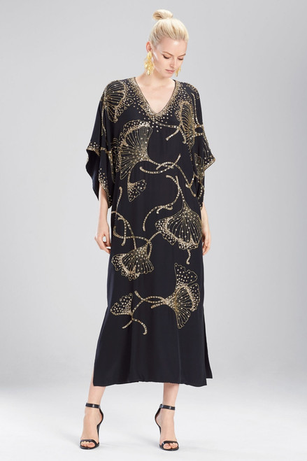 Couture Ginkgo Beaded Caftan