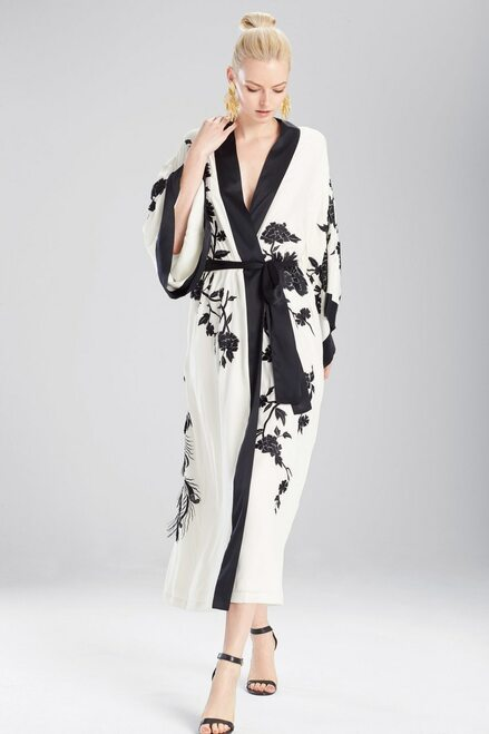 Buy Josie Natori Couture Black Peacock Robe from